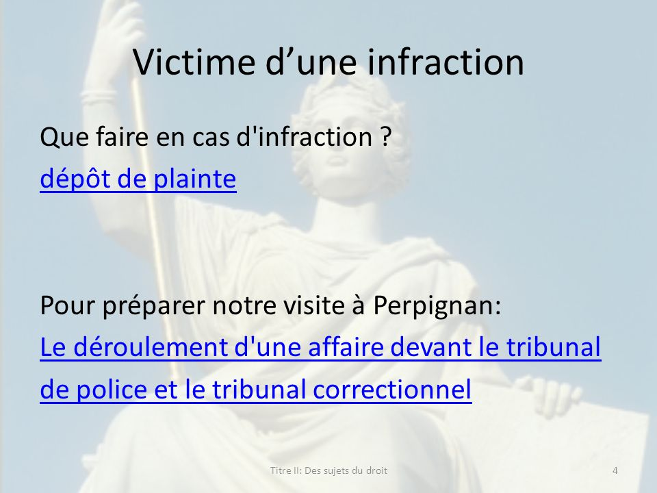 Victime d'une infraction