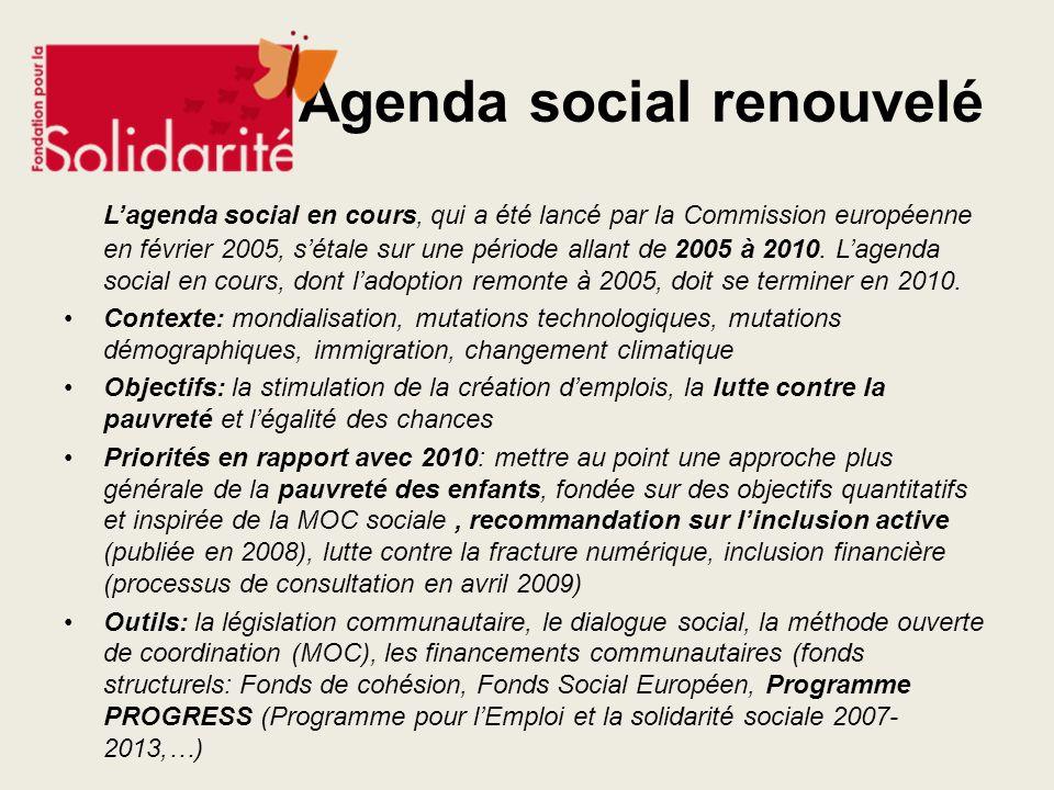 Agenda social renouvelé