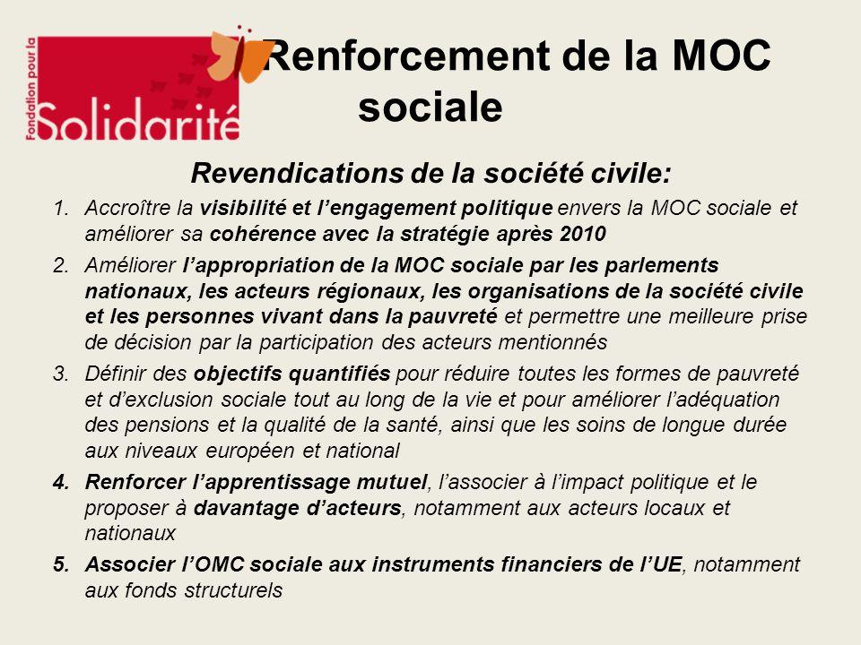 Renforcement de la MOC sociale