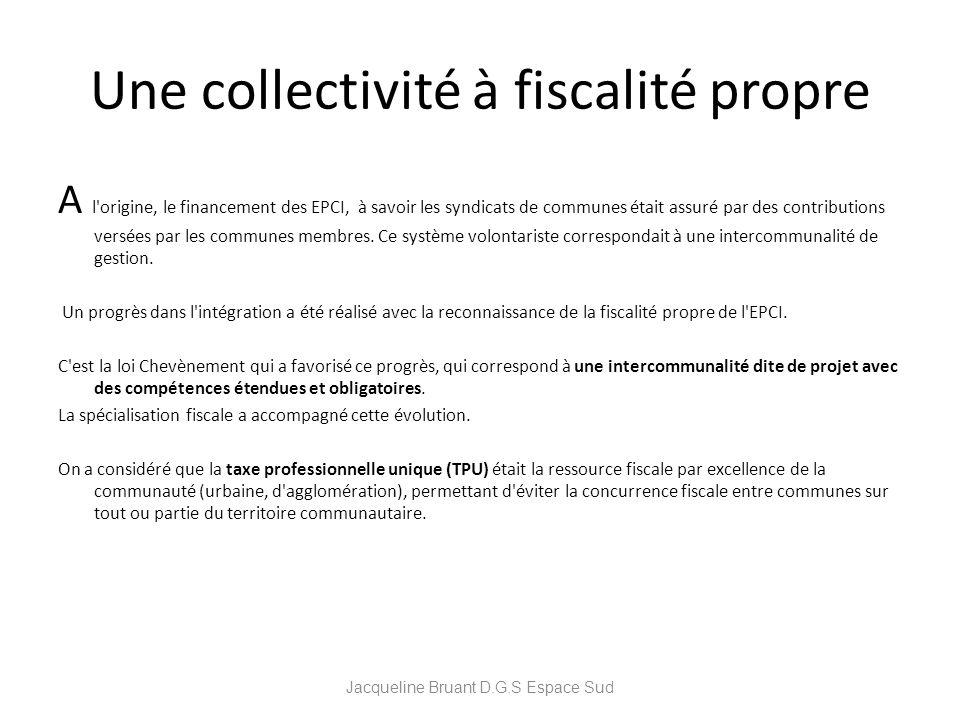 Une collectivité à fiscalité propre