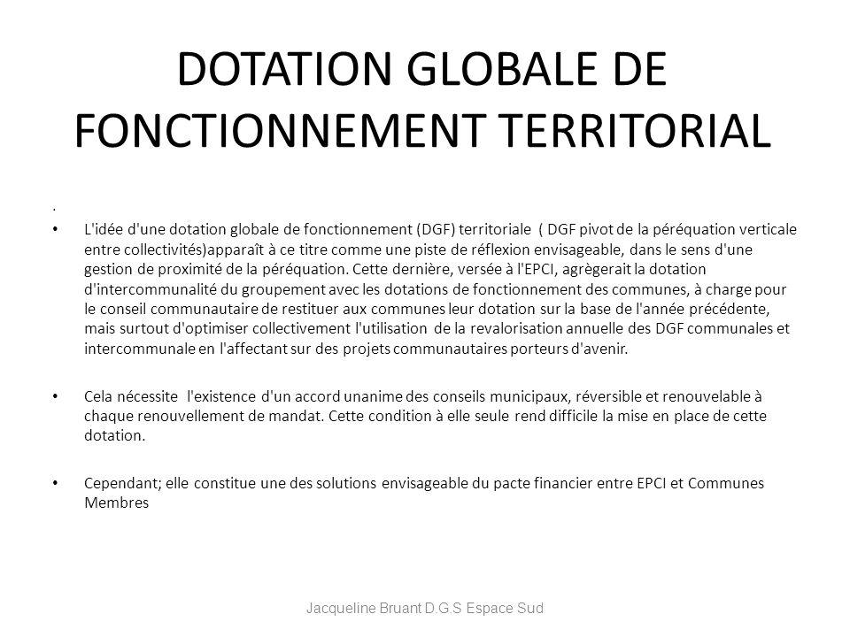 DOTATION GLOBALE DE FONCTIONNEMENT TERRITORIAL