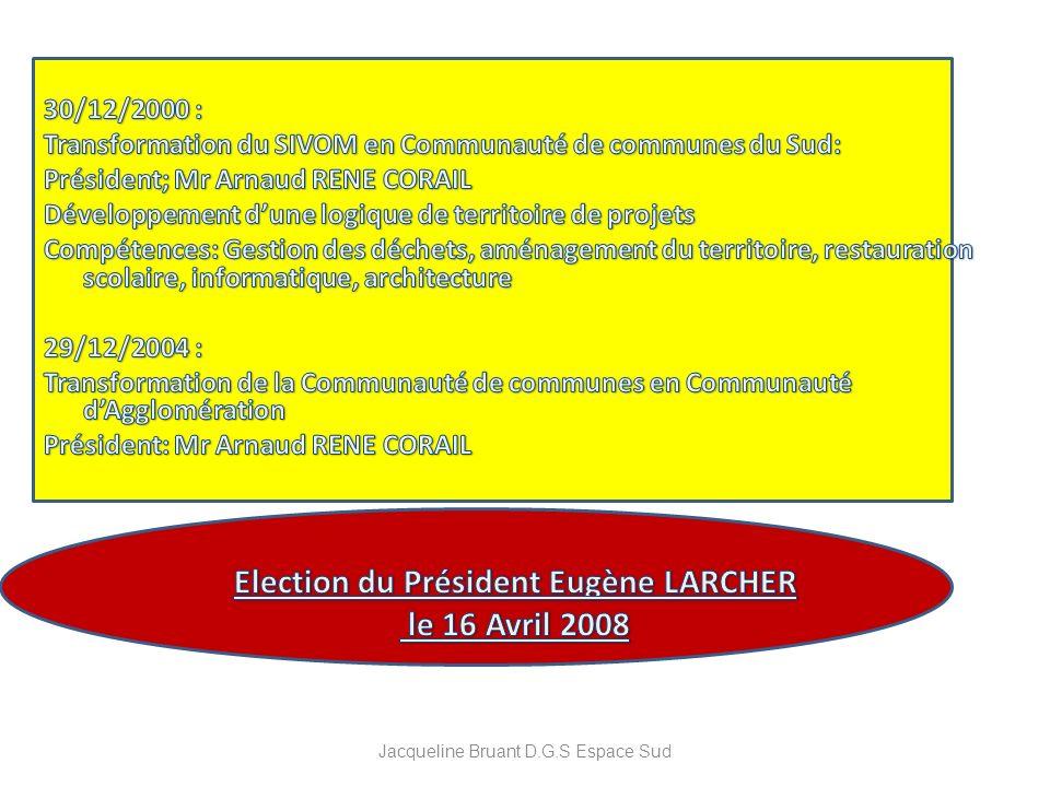 Election du Président Eugène LARCHER