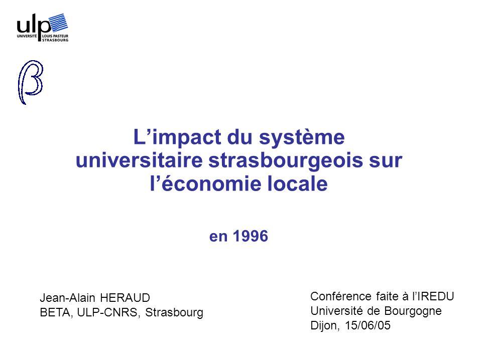 L'impact du système universitaire strasbourgeois sur l'économie locale