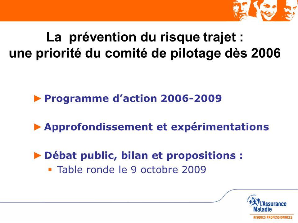 La prévention du risque trajet : une priorité du comité de pilotage dès 2006