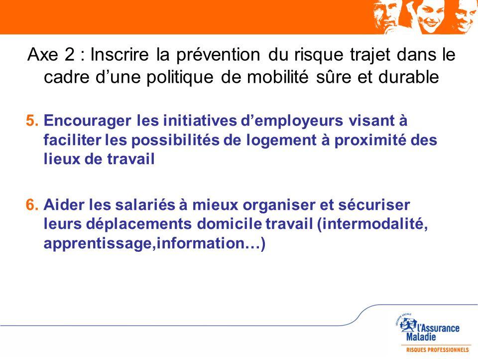 Axe 2 : Inscrire la prévention du risque trajet dans le cadre d'une politique de mobilité sûre et durable
