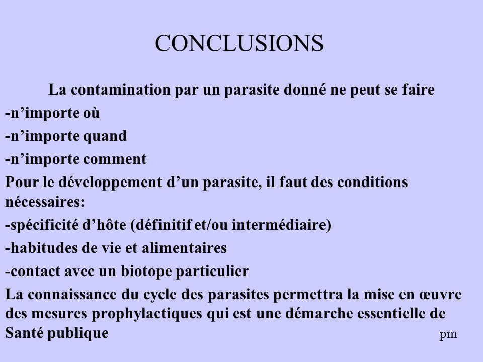 Les Parasites et leur cycle biologique Les relations Hôte
