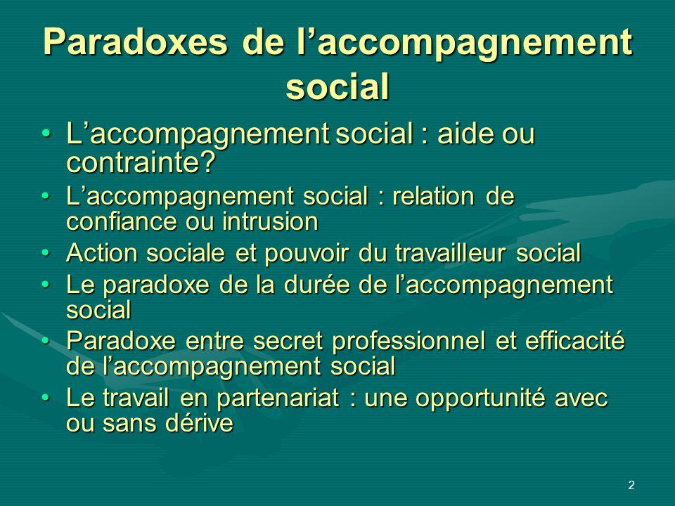Paradoxes de l'accompagnement social