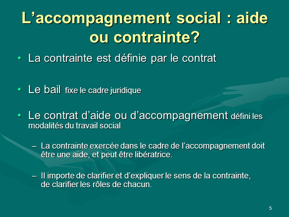 L'accompagnement social : aide ou contrainte