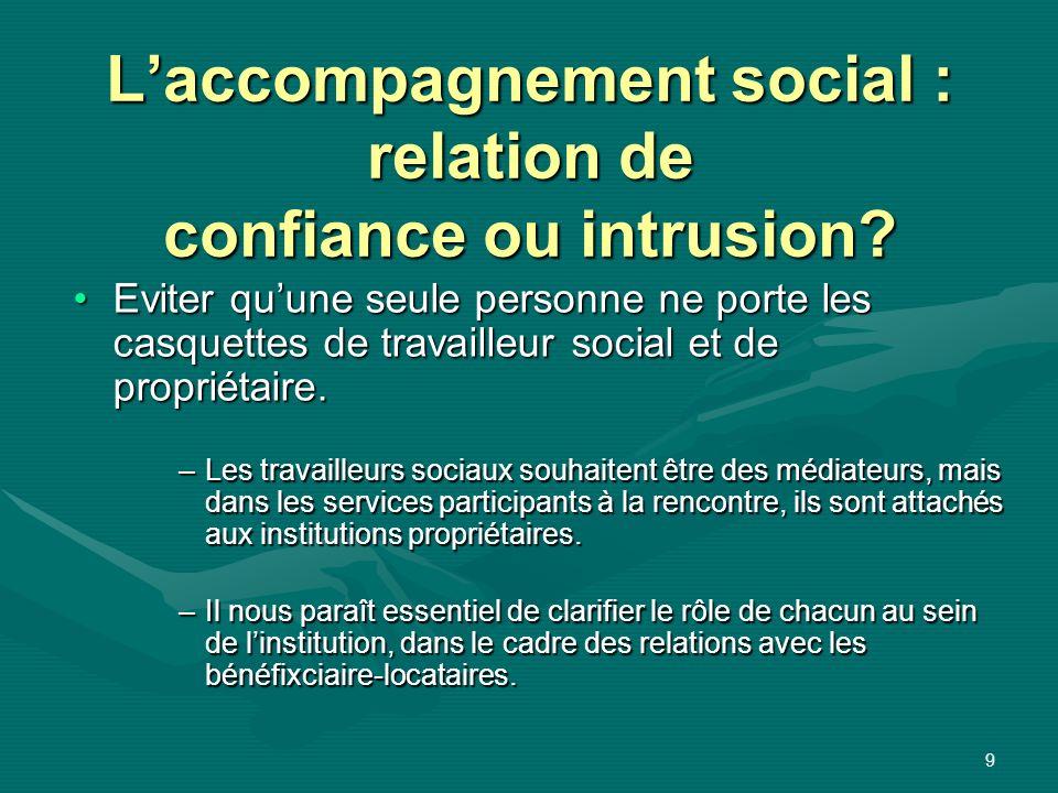 L'accompagnement social : relation de confiance ou intrusion
