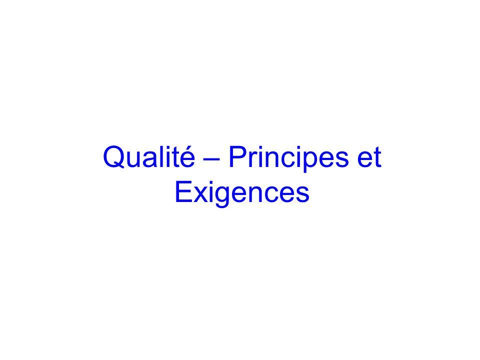 Qualité – Principes et Exigences