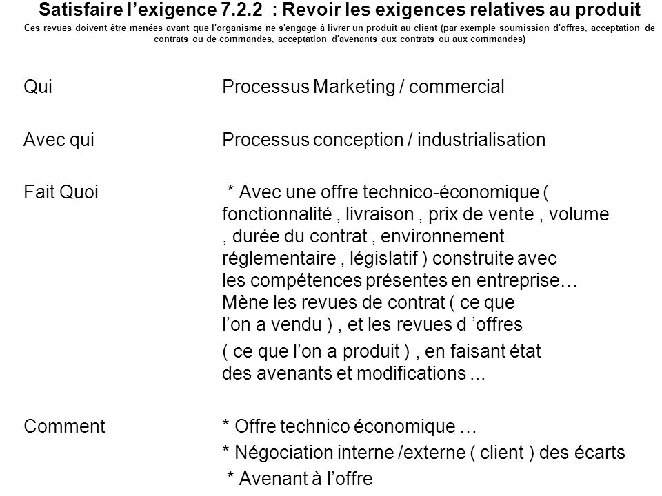 Mission du processus Marketing / commercial 3