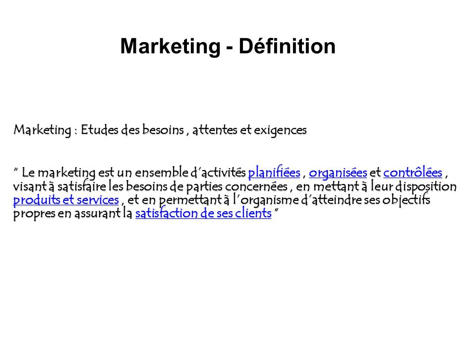 Marketing - Définition