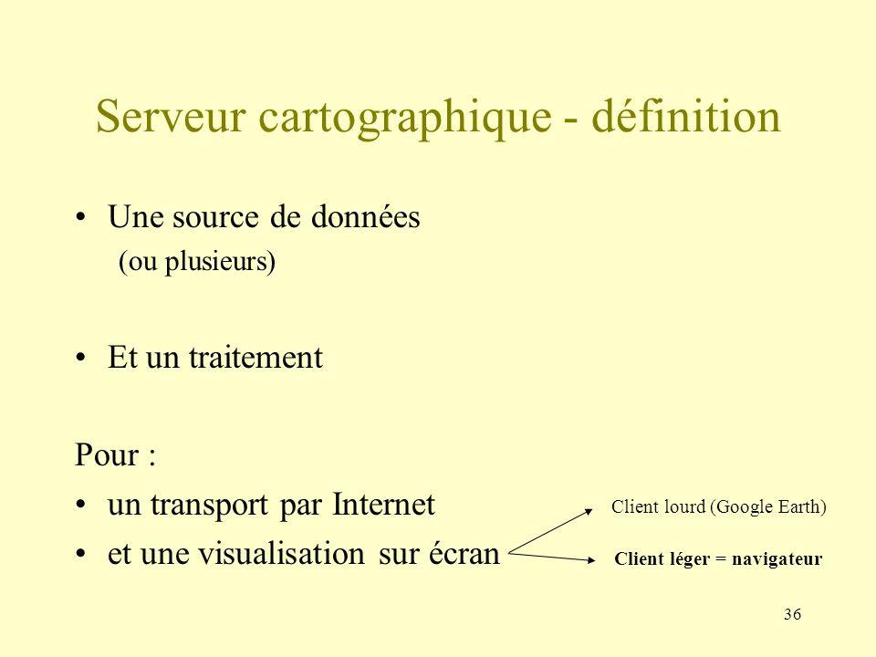 Serveur cartographique - définition