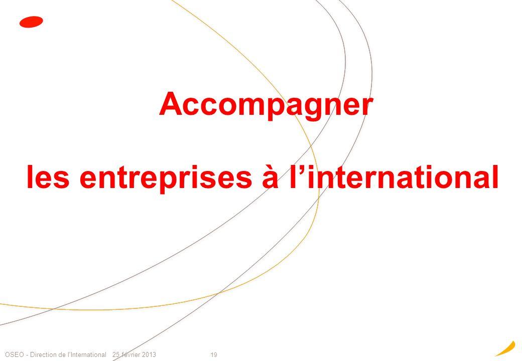 Accompagner les entreprises à l'international