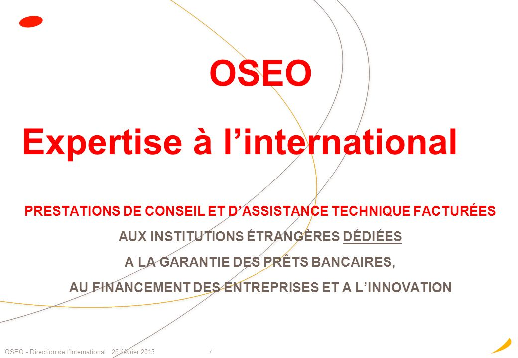 OSEO Expertise à l'international