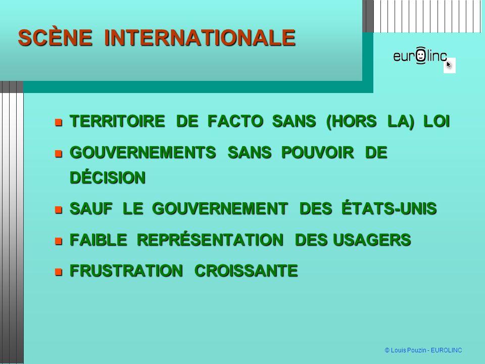 SCÈNE INTERNATIONALE TERRITOIRE DE FACTO SANS (HORS LA) LOI