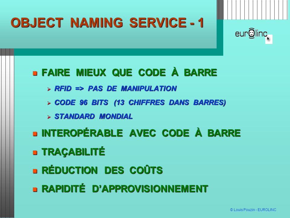 OBJECT NAMING SERVICE - 1