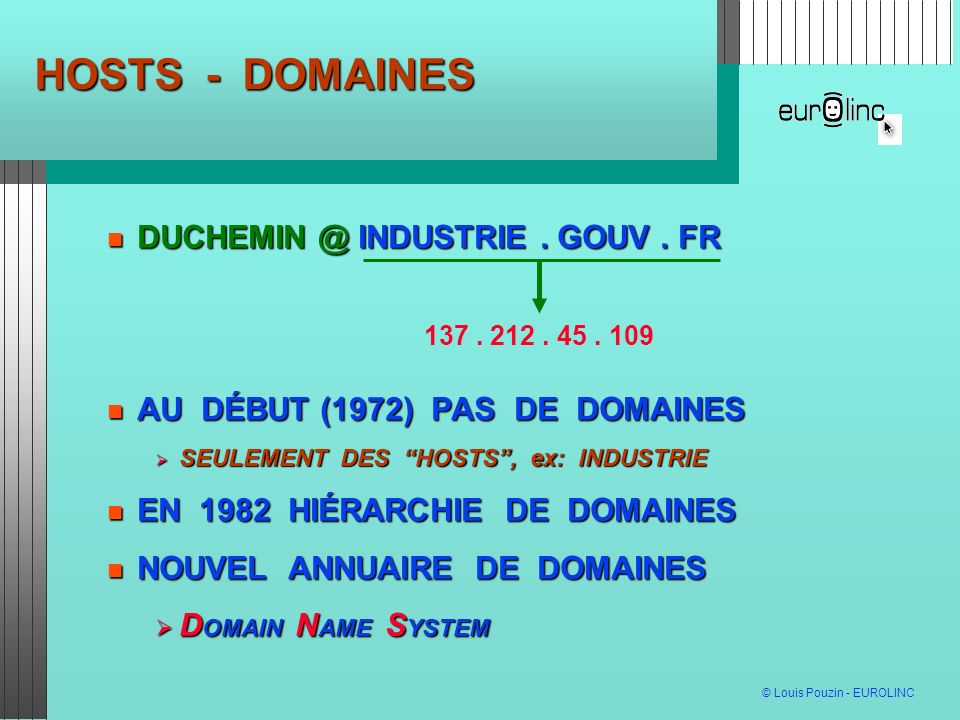 HOSTS - DOMAINES DUCHEMIN @ INDUSTRIE . GOUV . FR