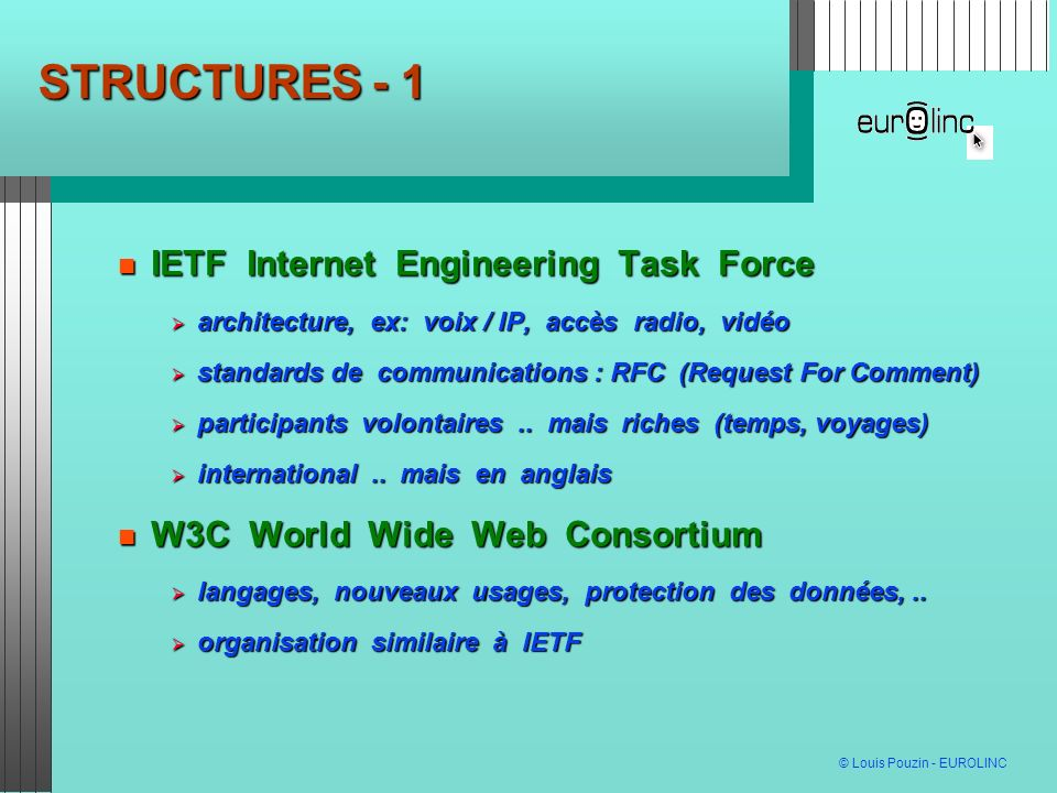 STRUCTURES - 1 IETF Internet Engineering Task Force