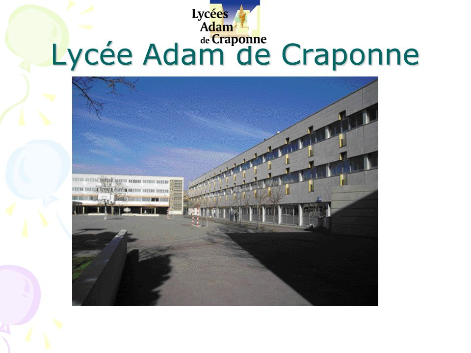 Bienvenue Au Lyc 233 E Adam De Craponne Ppt T 233 L 233 Charger
