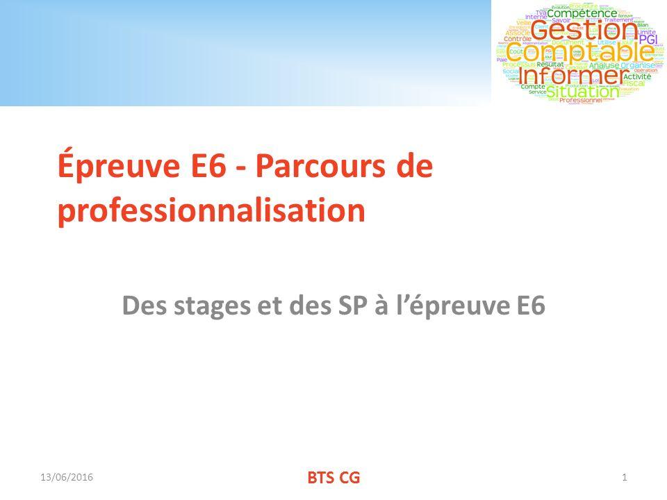 Épreuve E6 - Parcours de professionnalisation