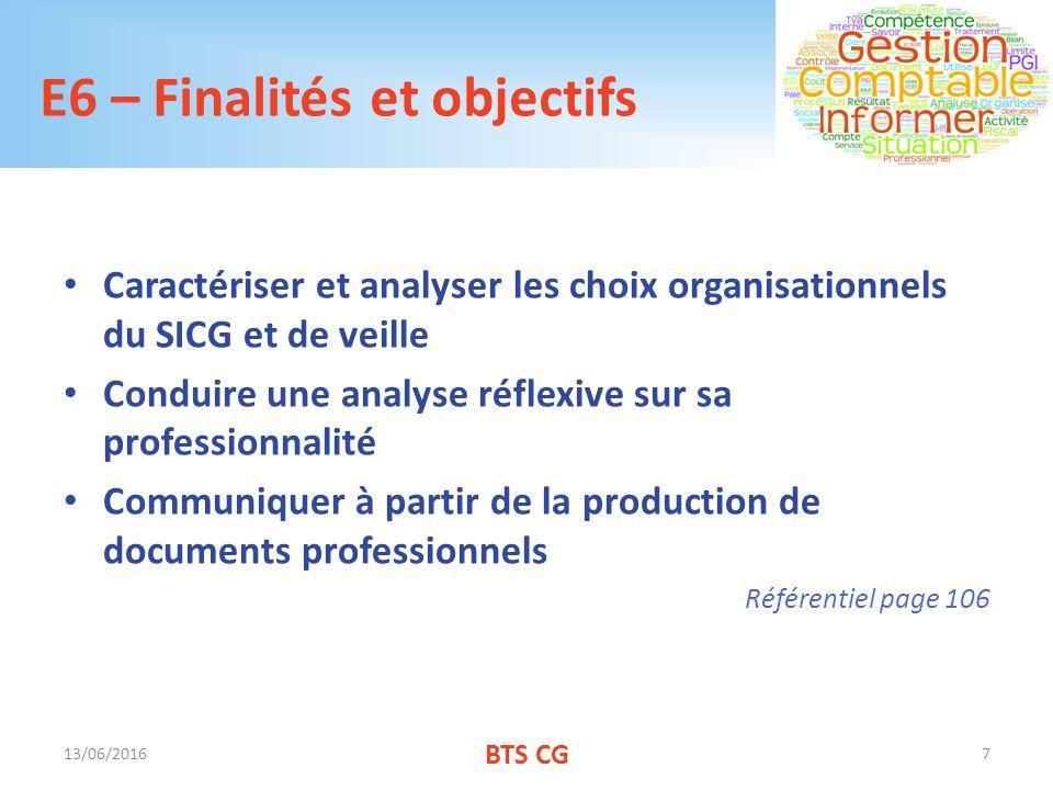 E6 – Finalités et objectifs