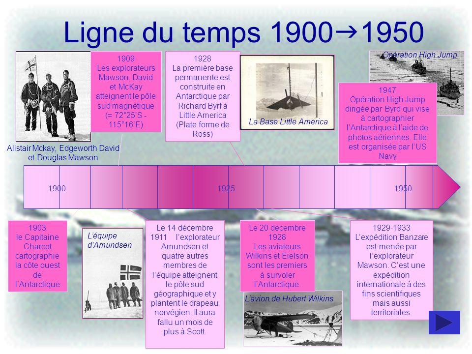 Ligne du temps 1900g1950 Opération High Jump