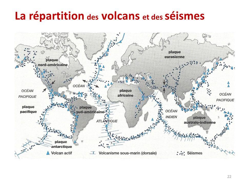 La répartition des volcans et des séismes