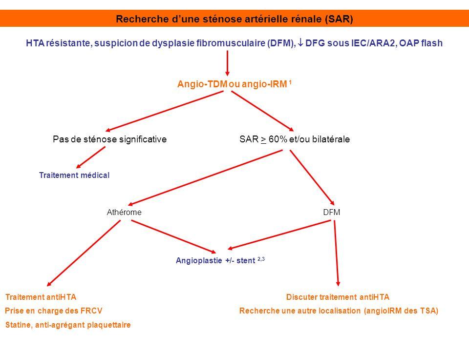 Recherche d'une sténose artérielle rénale (SAR)