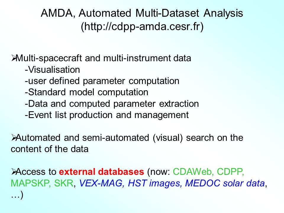 AMDA, Automated Multi-Dataset Analysis (http://cdpp-amda.cesr.fr)