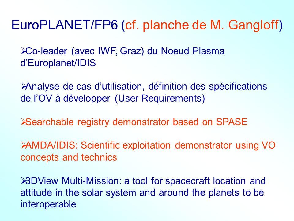 EuroPLANET/FP6 (cf. planche de M. Gangloff)