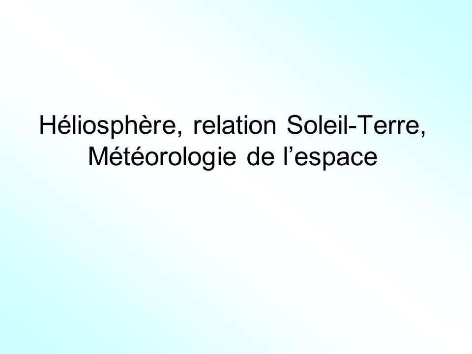 Héliosphère, relation Soleil-Terre, Météorologie de l'espace