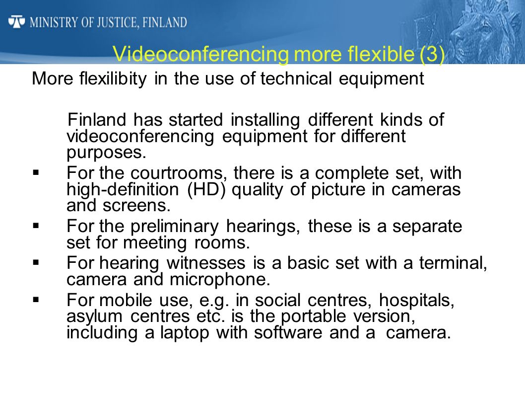 Videoconferencing more flexible (3)