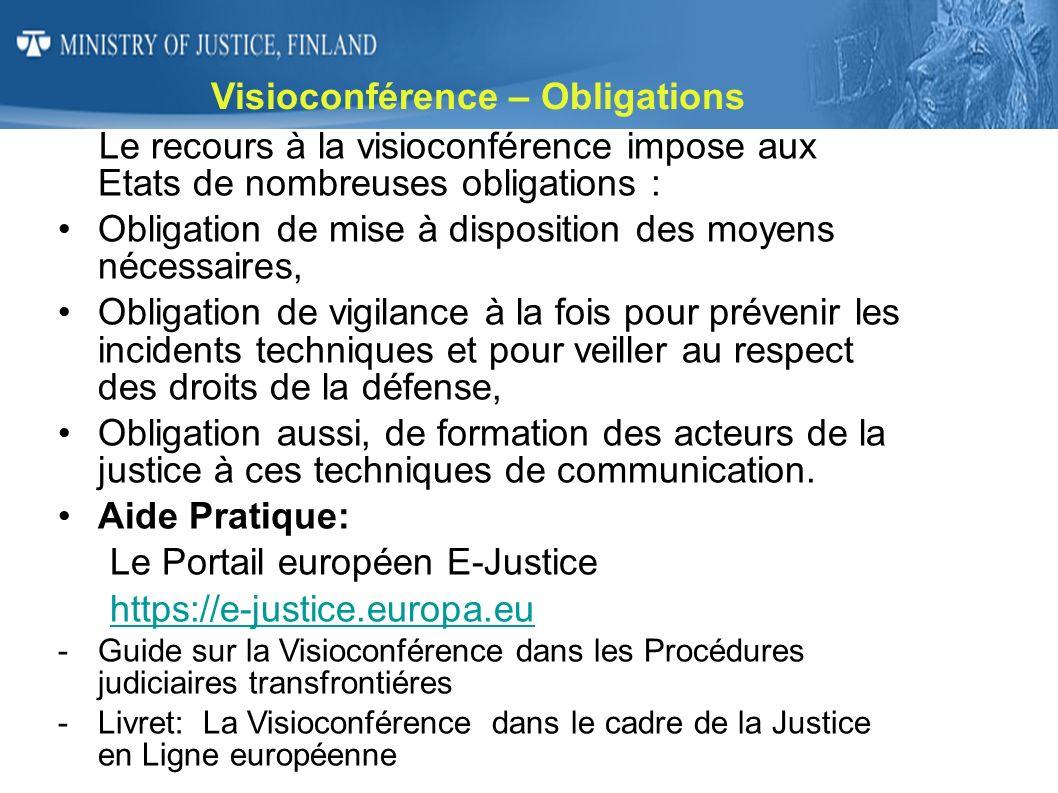 Visioconférence – Obligations
