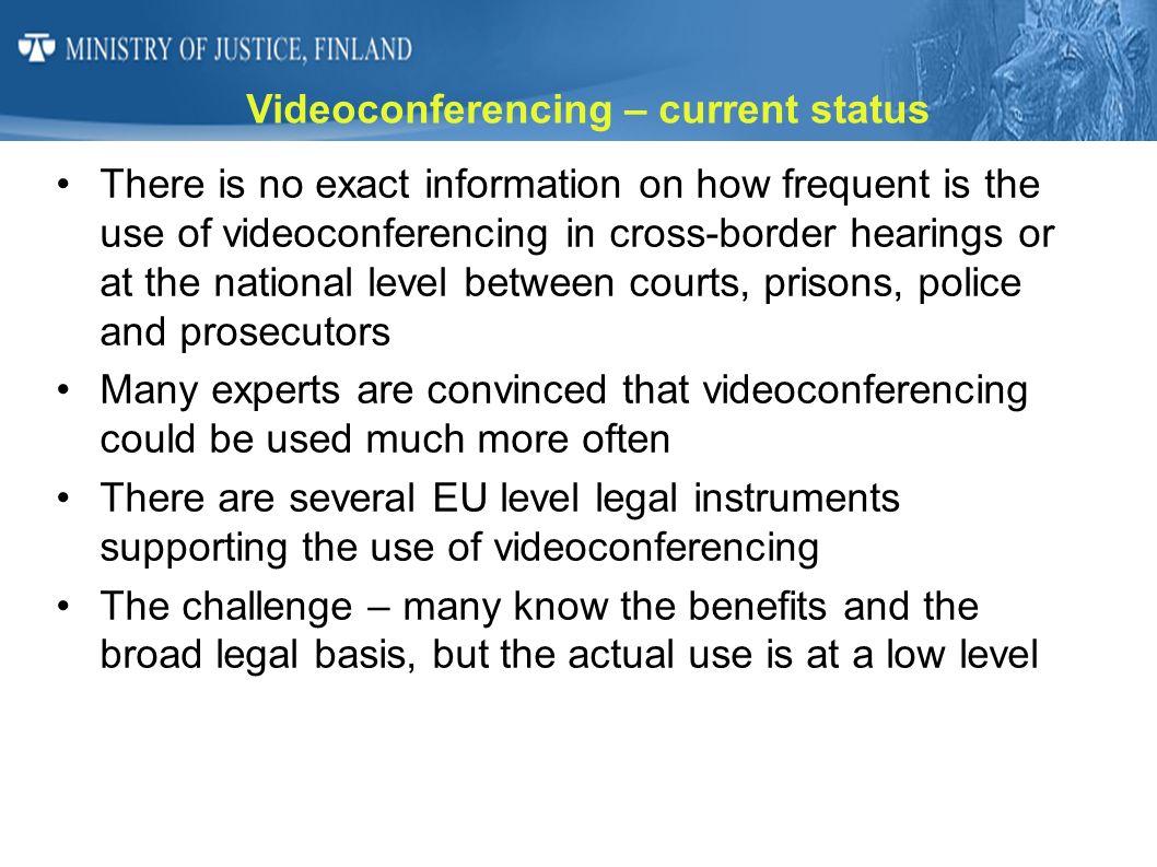 Videoconferencing – current status