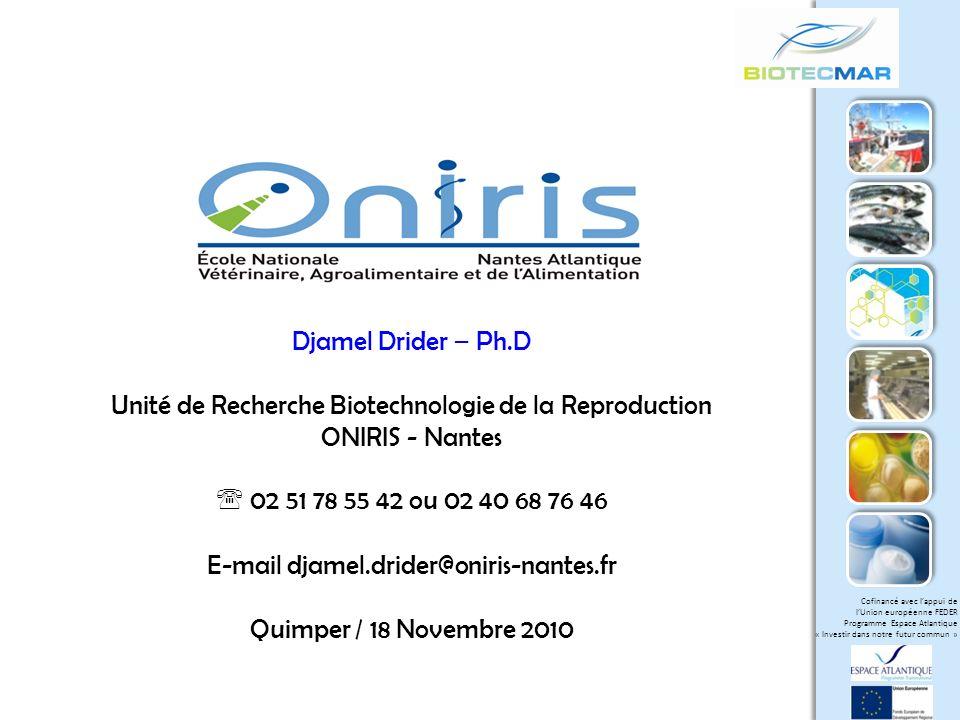 Unité de Recherche Biotechnologie de la Reproduction ONIRIS - Nantes