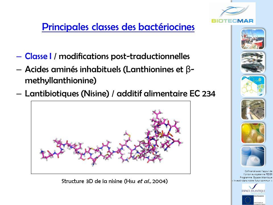 Principales classes des bactériocines