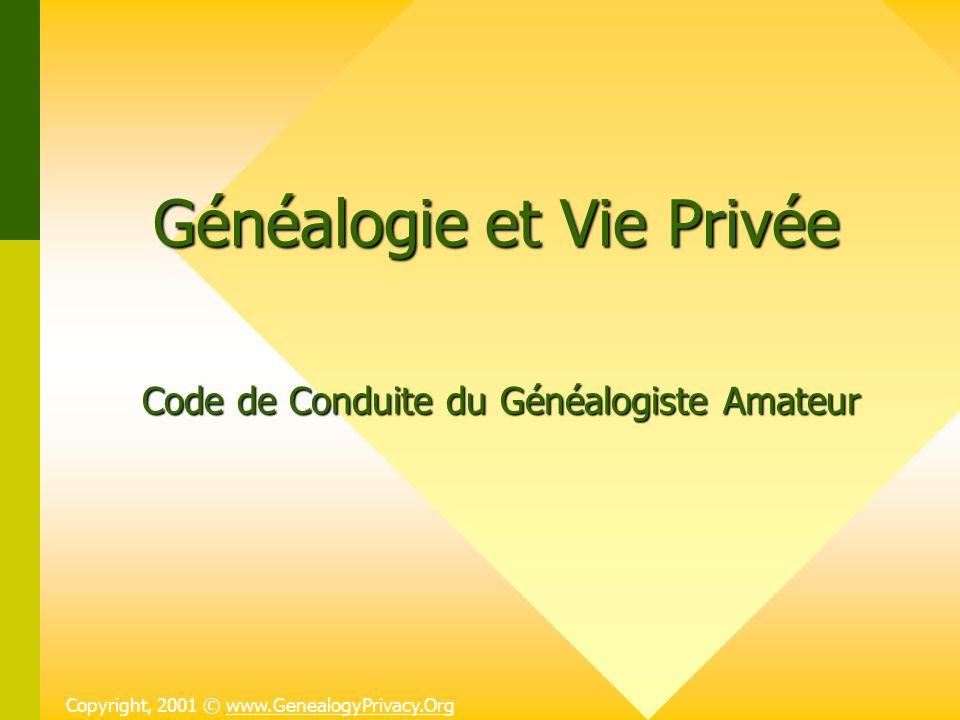 Généalogie et Vie Privée