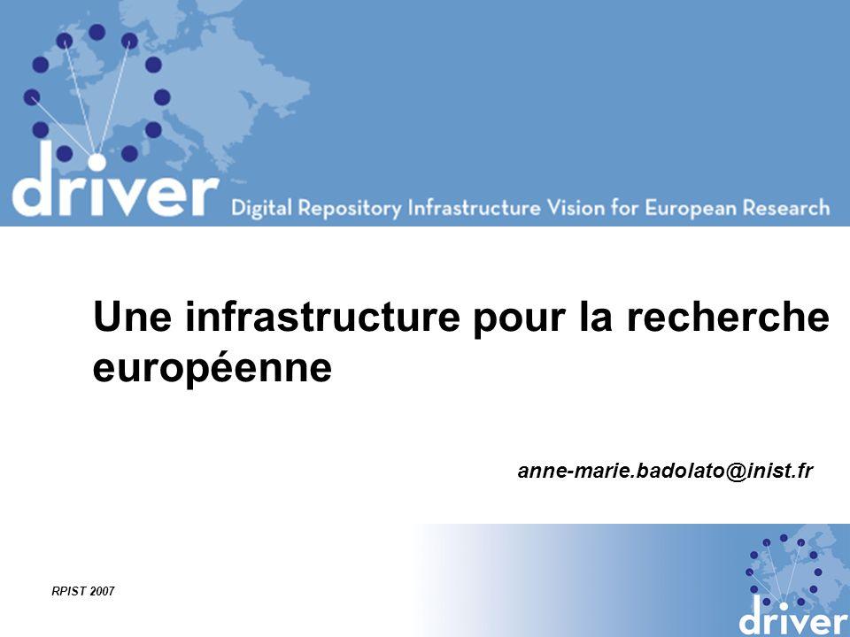 Une infrastructure pour la recherche européenne