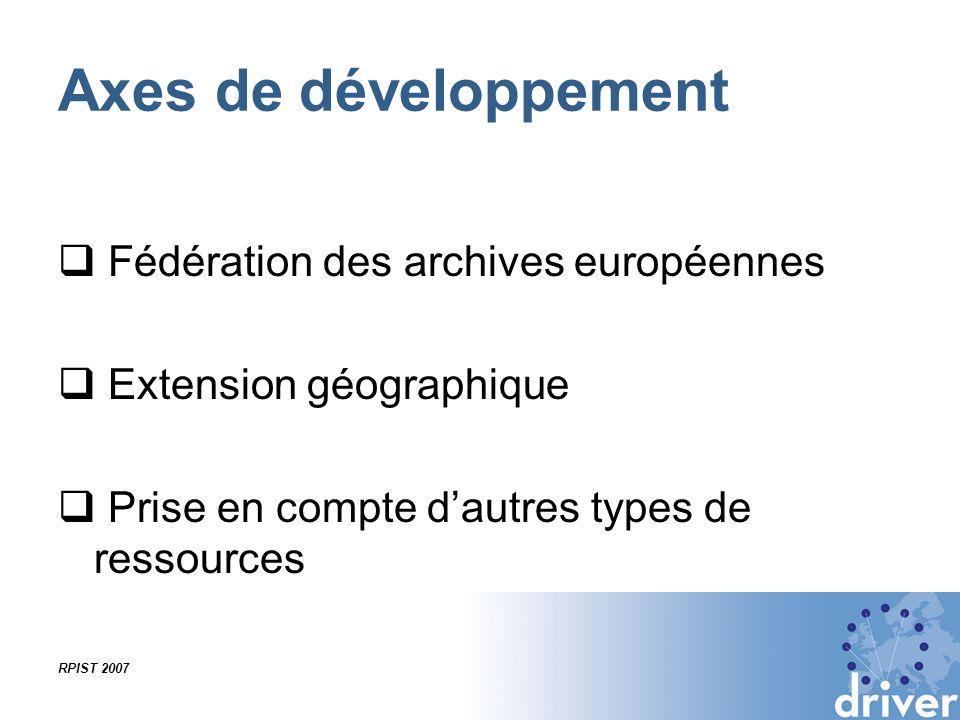 Axes de développement Fédération des archives européennes