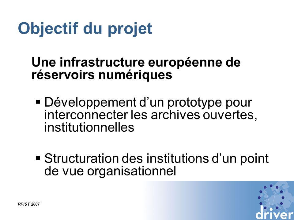 Objectif du projet Une infrastructure européenne de réservoirs numériques.