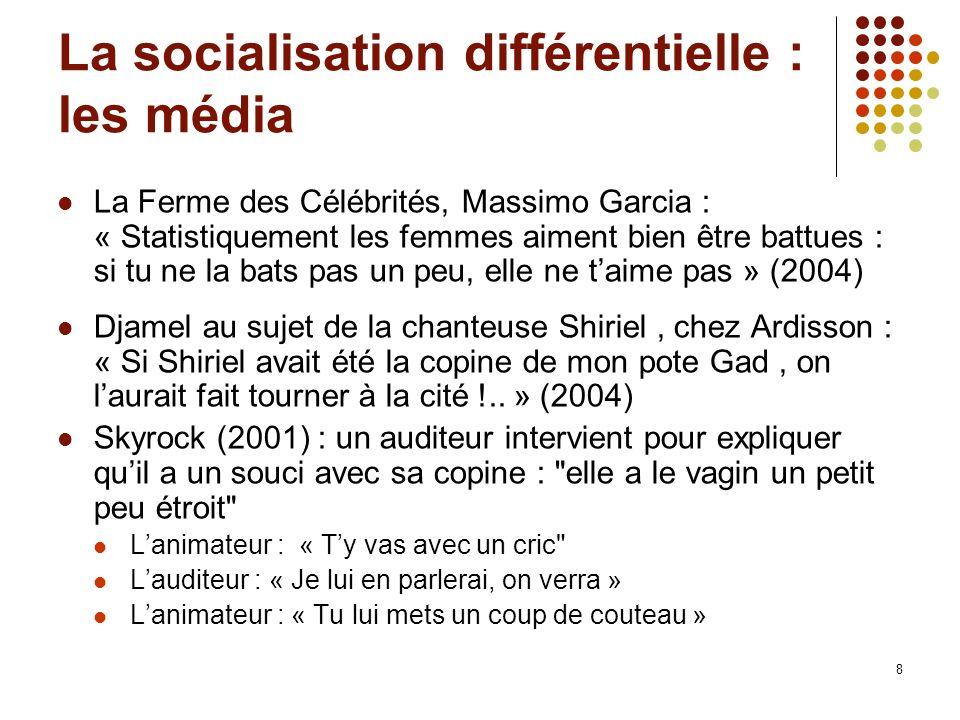 La socialisation différentielle : les média
