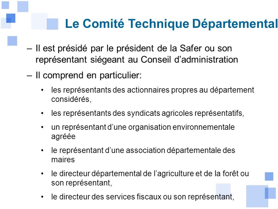 Le Comité Technique Départemental