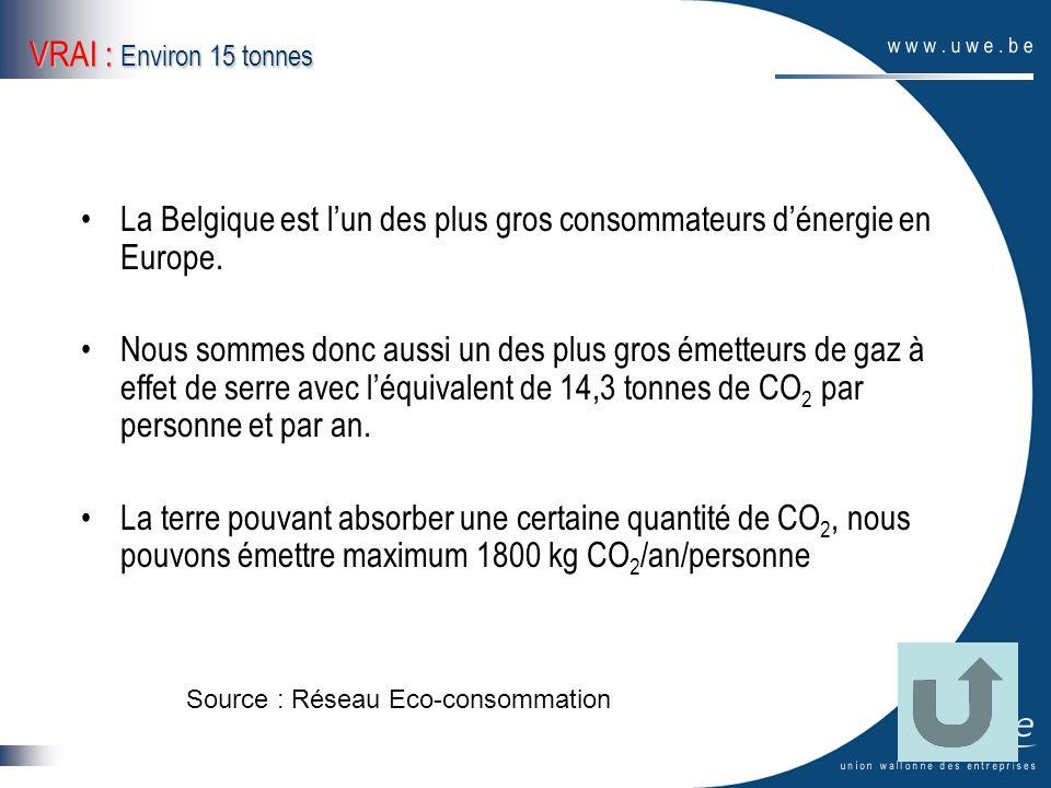 La Belgique est l'un des plus gros consommateurs d'énergie en Europe.