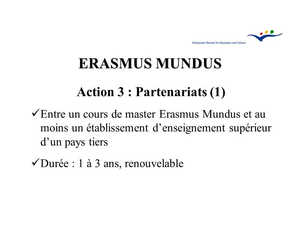 Action 3 : Partenariats (1)