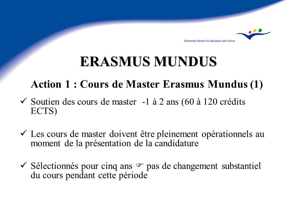 Action 1 : Cours de Master Erasmus Mundus (1)