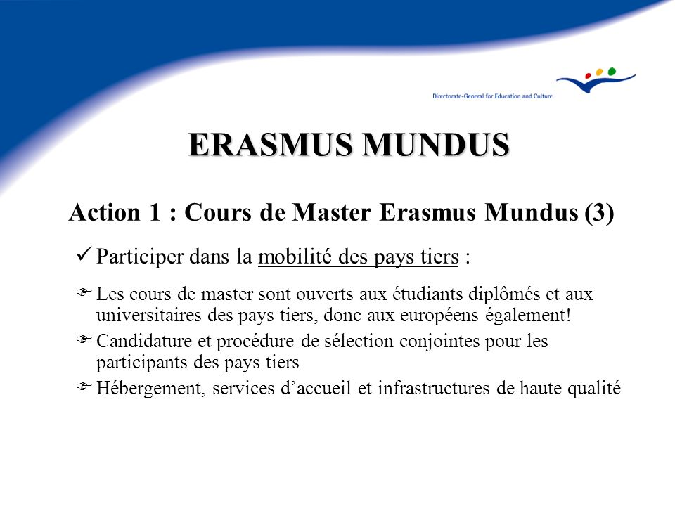 Action 1 : Cours de Master Erasmus Mundus (3)