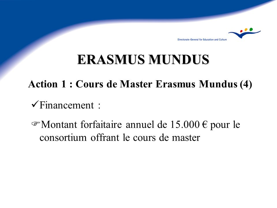 Action 1 : Cours de Master Erasmus Mundus (4)