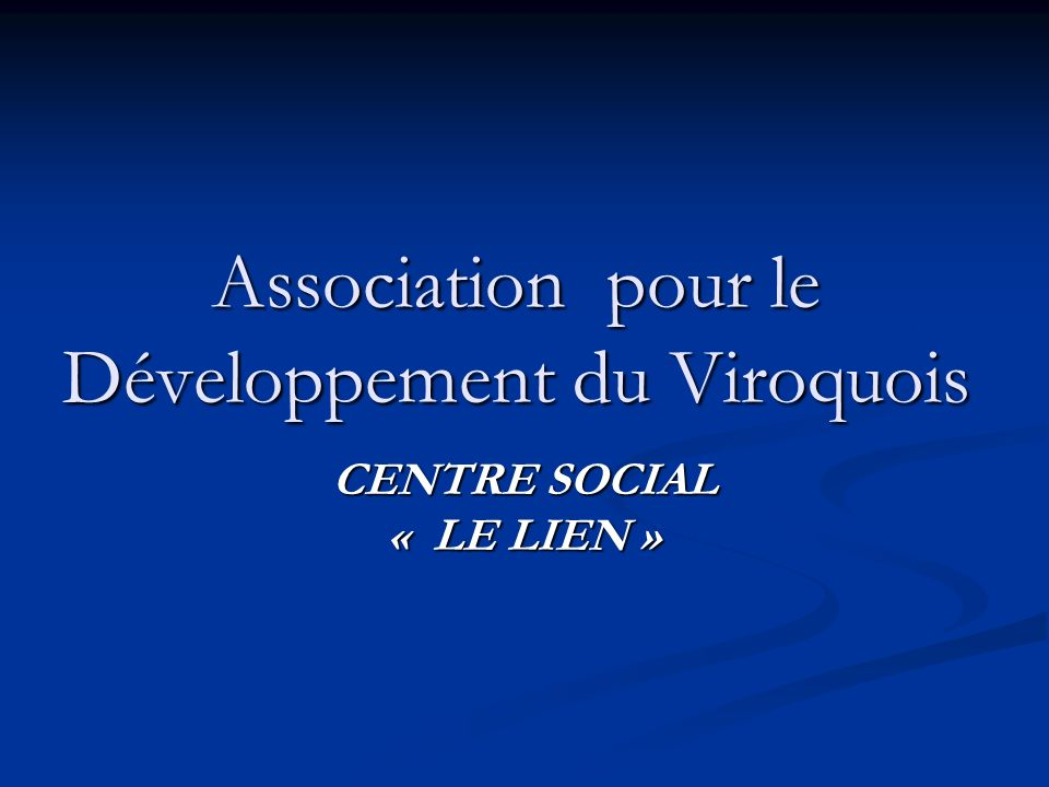 Association pour le Développement du Viroquois
