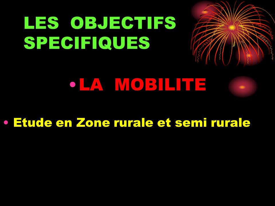 LES OBJECTIFS SPECIFIQUES